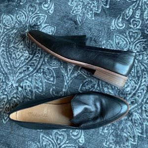 Madewell Black Leather Frances Loafers Size 10
